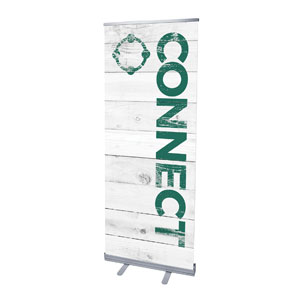 "Shiplap Connect White 2'7"" x 6'7""  Vinyl Banner"