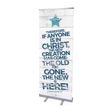 Shiplap 2 Corinthians 5:17 White Banner