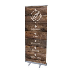Shiplap Natural Directional Banner