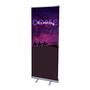 "Come Let Us Adore 2'7"" x 6'7""  Vinyl Banner"