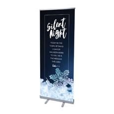 Silent Night Snowflake Banner