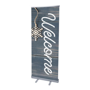 "Wood Ornaments Welcome 2'7"" x 6'7""  Vinyl Banner"
