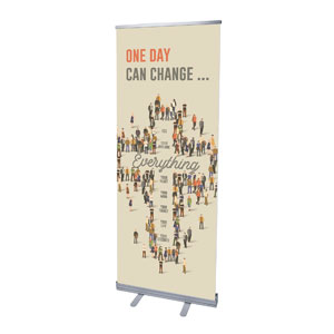 "People Cross 2'7"" x 6'7""  Vinyl Banner"