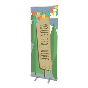 "Woodland Friends Your Text Here 2'7"" x 6'7""  Vinyl Banner"