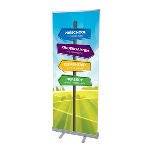 "Bright Meadow Directional 2'7"" x 6'7""  Vinyl Banner"