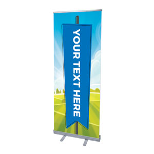 "Bright Meadow Your Text Here 2'7"" x 6'7""  Vinyl Banner"