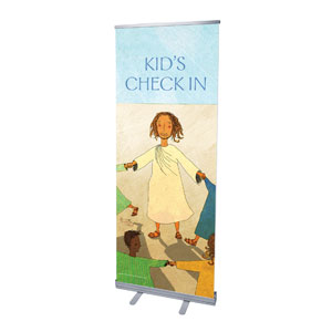 "JSB Check In 2'7"" x 6'7""  Vinyl Banner"