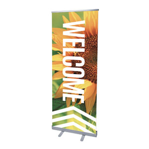 "Chevron Welcome Summer 2'7"" x 6'7""  Vinyl Banner"