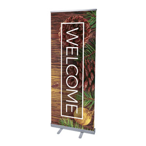 "Wooden Slats Winter 2'7"" x 6'7""  Vinyl Banner"