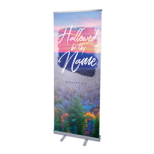 "Beautiful Praise Hallowed Name 2'7"" x 6'7""  Vinyl Banner"