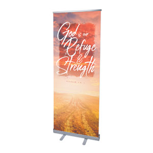 "Beautiful Praise Refuge and Strength 2'7"" x 6'7""  Vinyl Banner"