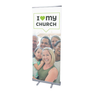 "ILMC Believe Love Serve 2'7"" x 6'7""  Vinyl Banner"