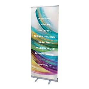 "Shimmer Stroke New Creation 2'7"" x 6'7""  Vinyl Banner"