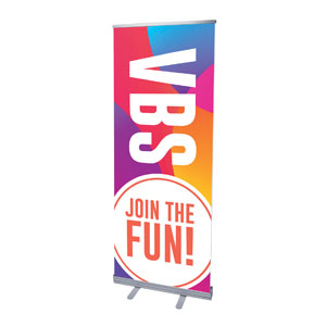 "Curved Colors VBS Join the Fun 2'7"" x 6'7""  Vinyl Banner"