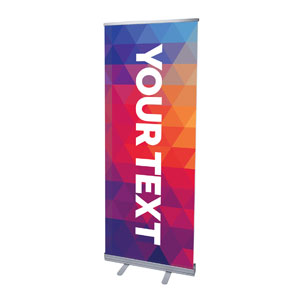 "Geometric Bold Your Text Here 2'7"" x 6'7""  Vinyl Banner"