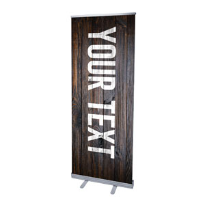 "Dark Wood Your Text Here 2'7"" x 6'7""  Vinyl Banner"