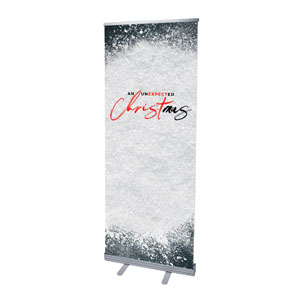 "Unexpected Christmas 2'7"" x 6'7""  Vinyl Banner"