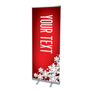 "Christmas At Red Your Text 2'7"" x 6'7""  Vinyl Banner"