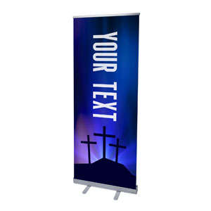 "Aurora Lights Celebrate Easter Your Text 2'7"" x 6'7""  Vinyl Banner"