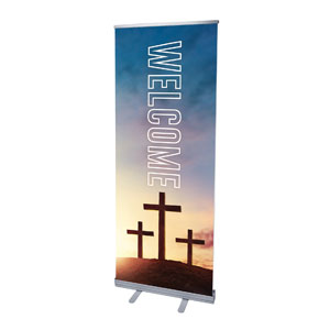 "Easter Hope Outline Welcome 2'7"" x 6'7""  Vinyl Banner"