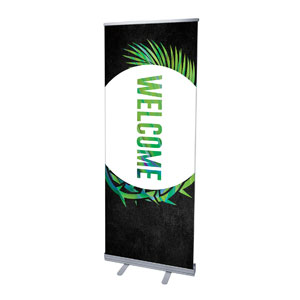 "Easter Palm Crown Welcome 2'7"" x 6'7""  Vinyl Banner"