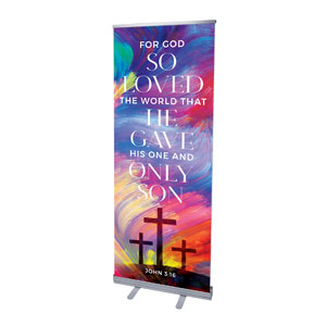 "No Greater Love Scripture 2'7"" x 6'7""  Vinyl Banner"