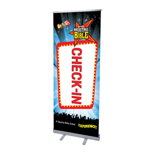"Go Fish Backstage With The Bible Check-In 2'7"" x 6'7""  Vinyl Banner"