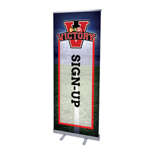 "Go Fish Victory Sign Up 2'7"" x 6'7""  Vinyl Banner"