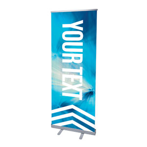 "Chevron Blue Your Text 2'7"" x 6'7""  Vinyl Banner"