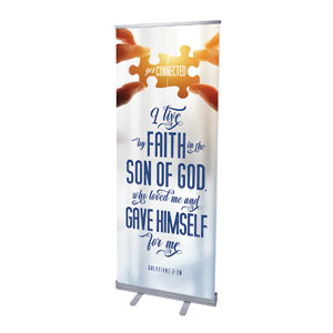 "Connected Scripture 2'7"" x 6'7""  Vinyl Banner"