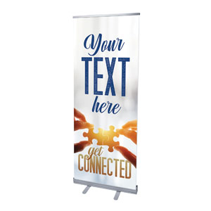 "Connected Your Text 2'7"" x 6'7""  Vinyl Banner"