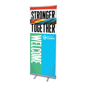 "BTCS Stronger Together Welcome 2'7"" x 6'7""  Vinyl Banner"