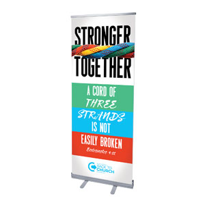 "BTCS Stronger Together Scripture 2'7"" x 6'7""  Vinyl Banner"