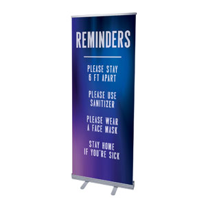 "Aurora Lights Reminders 2'7"" x 6'7""  Vinyl Banner"
