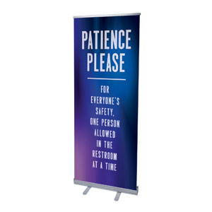 "Aurora Lights Patience 2'7"" x 6'7""  Vinyl Banner"