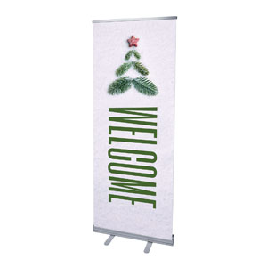 "Christmas At Tree Welcome 2'7"" x 6'7""  Vinyl Banner"