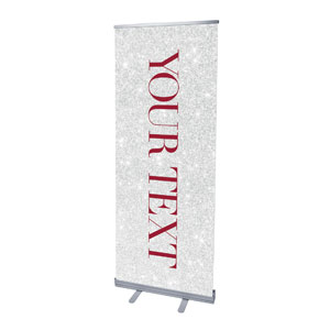 "Christmas Brings Hope Sparkle Your Text 2'7"" x 6'7""  Vinyl Banner"