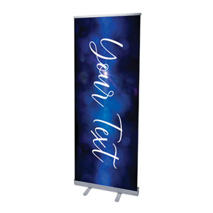 "Celebrate Christmas Blue Sparkle Your Text 2'7"" x 6'7""  Vinyl Banner"