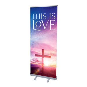 "Love Easter Colors 2'7"" x 6'7""  Vinyl Banner"