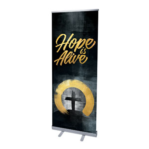 "Hope Is Alive Gold 2'7"" x 6'7""  Vinyl Banner"