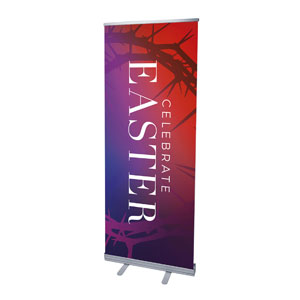 "Celebrate Easter Crown 2'7"" x 6'7""  Vinyl Banner"