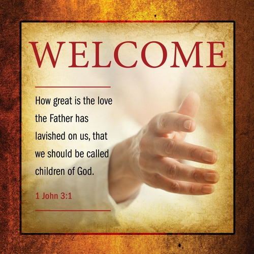 Church Banner Verses Welcome 3 X 3 Outreach Marketing