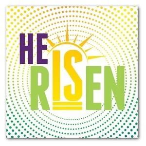 He Is Risen Dots StickUp