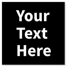 Your Text Here White Banner