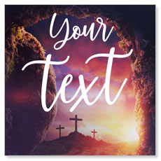 Dramatic Tomb Easter Your Text