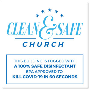 Clean and Safe Church StickUp