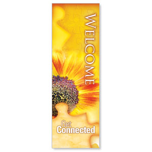 Get Connected - Welcome 2' x 6' Banner