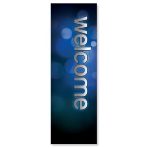 Sparkle Welcome 2' x 6' Banner