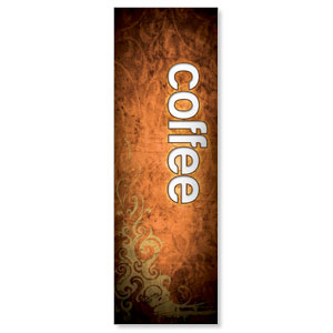 Adornment Coffee 2' x 6' Banner