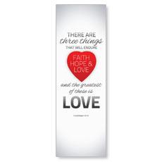 Pin Stripe I Cor 13:13 Banner